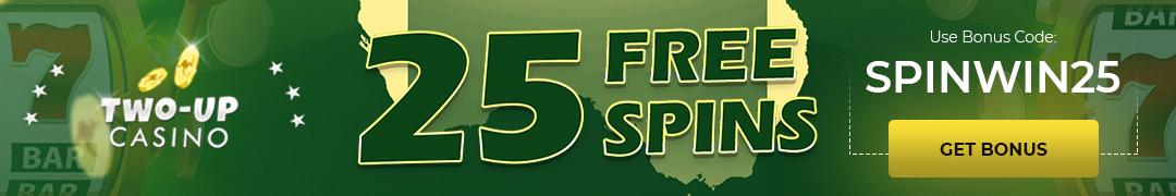 Two-up casino free spin bonus